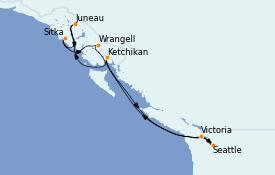 Itinerario de crucero Alaska 11 días a bordo del MS Regatta