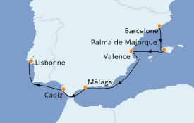 Itinerario de crucero Mediterráneo 8 días a bordo del Le Dumont d'Urville