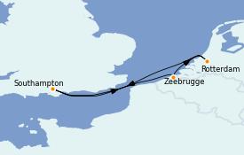 Itinerario de crucero Mar Báltico 4 días a bordo del Odyssey of the Seas