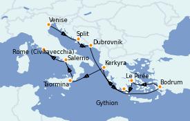 Itinerario de crucero Grecia y Adriático 11 días a bordo del Seven Seas Explorer