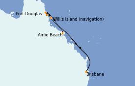 Itinerario de crucero Australia 2022 8 días a bordo del Coral Princess