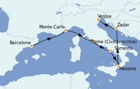 Itinerario de crucero Mediterráneo 8 días a bordo del Seven Seas Splendor