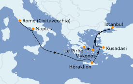 Itinerario de crucero Grecia y Adriático 8 días a bordo del Discovery Princess