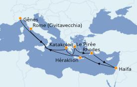 Itinerario de crucero Grecia y Adriático 11 días a bordo del MSC Poesia
