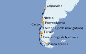Itinerario de crucero Norteamérica 10 días a bordo del Silver Cloud Expedition