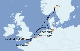 Itinerario de crucero Islas Británicas 9 días a bordo del Anthem of the Seas