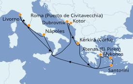 Itinerario de crucero Trasatlántico y Grande Viaje 2021 12 días a bordo del Norwegian Getaway