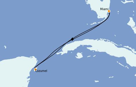 Itinerario del crucero Caribe del Oeste 4 días a bordo del Celebrity Summit