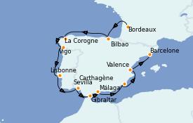 Itinerario de crucero Mediterráneo 14 días a bordo del Azamara Pursuit