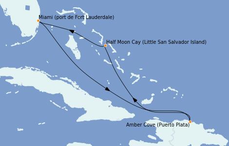Itinerario del crucero Caribe del Este 5 días a bordo del  ms Nieuw Amsterdam