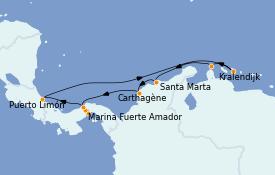 Itinerario de crucero Caribe del Este 11 días a bordo del Norwegian Jewel