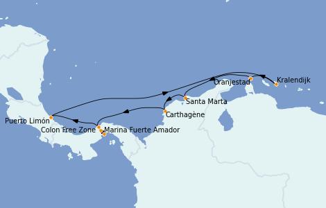 Itinerario del crucero Caribe del Este 10 días a bordo del Norwegian Jewel