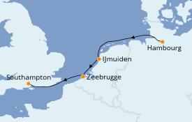 Itinerario de crucero Mar Báltico 6 días a bordo del Queen Victoria