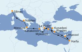 Itinerario de crucero Grecia y Adriático 12 días a bordo del MSC Lirica