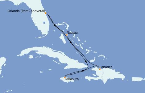 Itinerario del crucero Caribe del Este 6 días a bordo del Jewel of the Seas