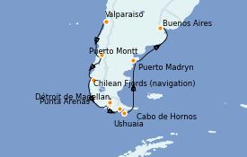 Itinerario de crucero Norteamérica 13 días a bordo del Celebrity Infinity