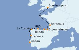 Itinerario de crucero Mediterráneo 10 días a bordo del Azamara Pursuit