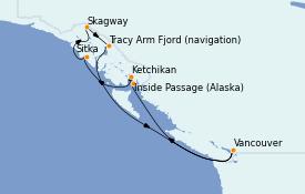 Itinerario de crucero Alaska 8 días a bordo del Radiance of the Seas