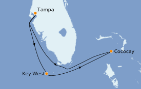 Itinerario de crucero Bahamas 6 días a bordo del Brilliance of the Seas