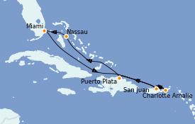 Itinerario de crucero Caribe del Este 8 días a bordo del MSC Meraviglia