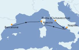 Itinerario de crucero Mediterráneo 4 días a bordo del Norwegian Epic