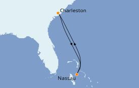 Itinerario de crucero Canadá 5 días a bordo del Carnival Sunshine