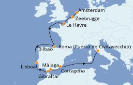 Itinerario de crucero Mediterráneo 12 días a bordo del Celebrity Reflection