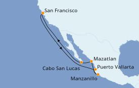 Itinerario de crucero Riviera Mexicana 11 días a bordo del Ruby Princess