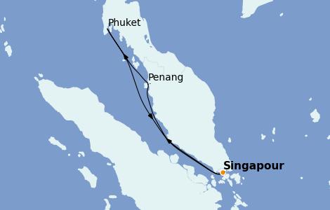 Itinerario del crucero Asia 7 días a bordo del Spectrum of the Seas