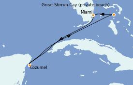 Itinerario de crucero Bahamas 6 días a bordo del Norwegian Sky