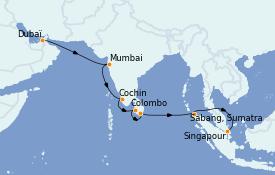 Itinerario de crucero Maldivas 15 días a bordo del Azamara Quest