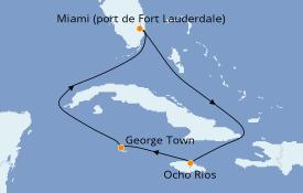 Itinerario de crucero Caribe del Oeste 6 días a bordo del Carnival Sunrise