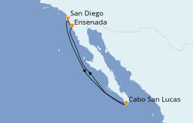 Itinerario de crucero Riviera Mexicana 6 días a bordo del Norwegian Jewel