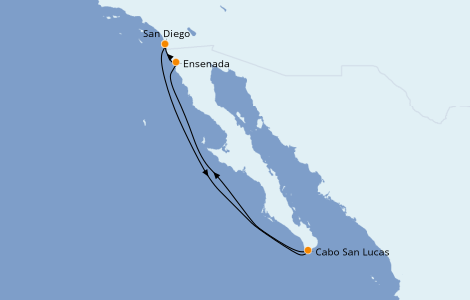 Itinerario del crucero Riviera Mexicana 5 días a bordo del Norwegian Jewel
