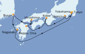 Itinerario de crucero Asia 10 días a bordo del Norwegian Spirit