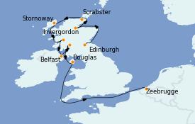 Itinerario de crucero Islas Británicas 12 días a bordo del MS World Explorer