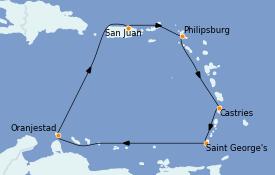 Itinerario de crucero Caribe del Este 8 días a bordo del Voyager of the Seas