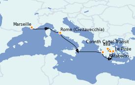 Itinerario de crucero Grecia y Adriático 8 días a bordo del Le Jacques Cartier