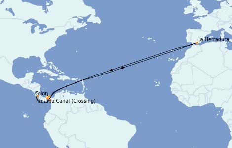 Itinerario del crucero Riviera Mexicana 7 días a bordo del Le Champlain