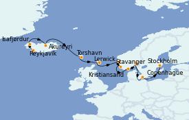 Itinerario de crucero Mar Báltico 13 días a bordo del MS Insignia