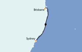 Itinerario de crucero Australia 2022 5 días a bordo del Coral Princess