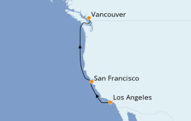 Itinerario de crucero Alaska 6 días a bordo del Norwegian Joy