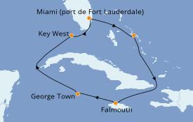 Itinerario de crucero Caribe del Oeste 8 días a bordo del ms Nieuw Amsterdam