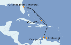 Itinerario de crucero Caribe del Este 9 días a bordo del Carnival Magic