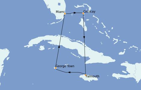 Itinerario del crucero Caribe del Oeste 6 días a bordo del Explorer of the Seas