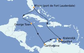 Itinerario de crucero Caribe del Este 12 días a bordo del Celebrity Silhouette