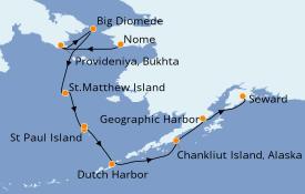 Itinerario de crucero Alaska 15 días a bordo del Le Boréal