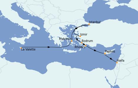 Itinerario del crucero Grecia y Adriático 10 días a bordo del Nautica