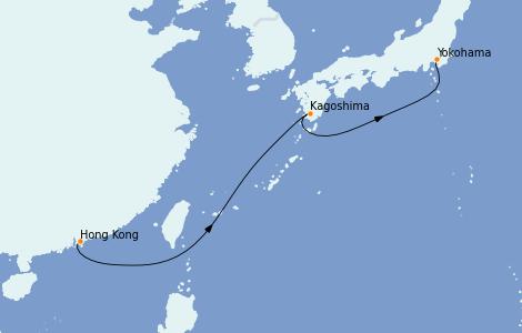Itinerario del crucero Asia 5 días a bordo del Silver Shadow