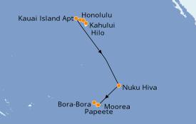 Itinerario de crucero Hawaii 14 días a bordo del Norwegian Jewel